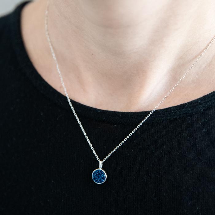 Colier 'Deep Blue' Argint 925 0
