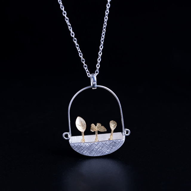 Colier 'Goldy's Basket' Argint 925 1