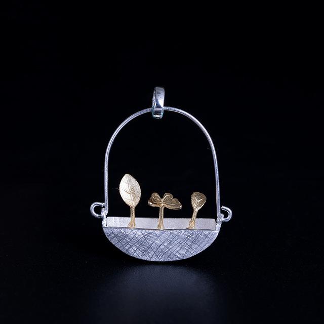 Colier 'Goldy's Basket' Argint 925 3