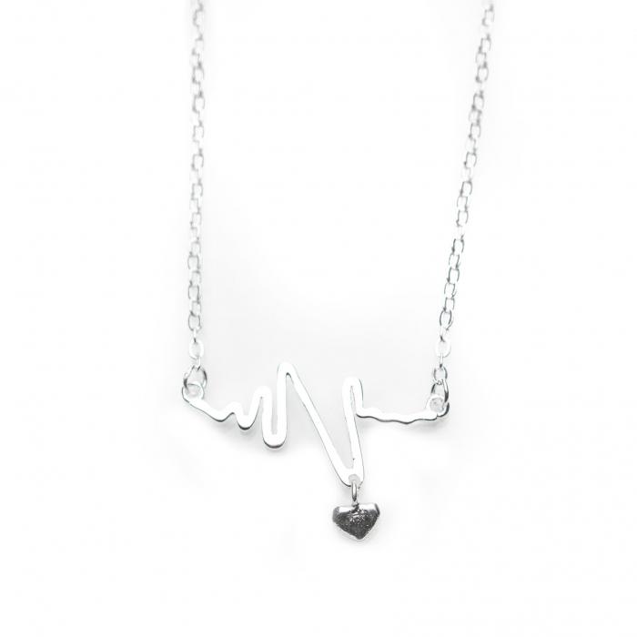 Colier HEARTBEAT -  Argint 925 2