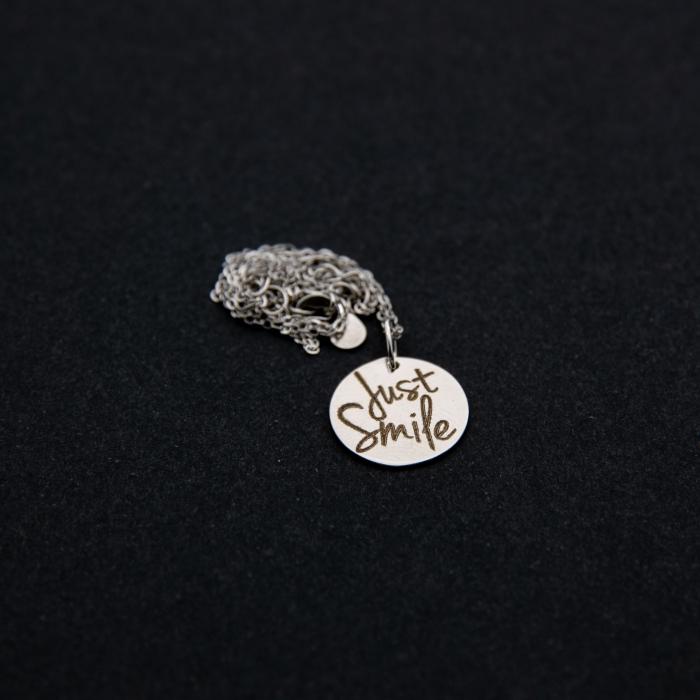 Colier JUST SMILE - Argint 925 placat cu aur 0