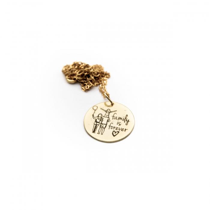 Colier FAMILY IS FOREVER - Argint 925 placat cu aur 7