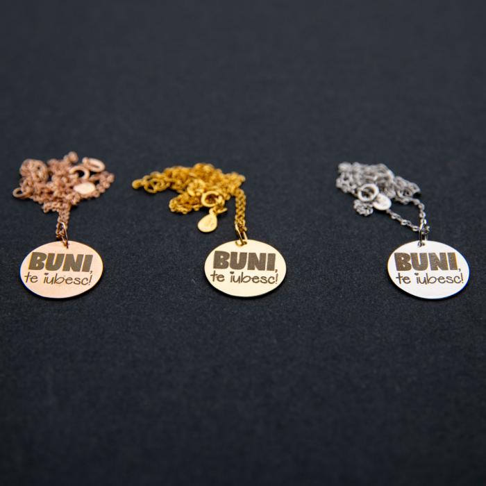 Colier BUNI, TE IUBESC - Argint 925 placat cu aur 1