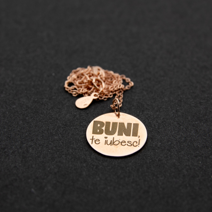 Colier BUNI, TE IUBESC - Argint 925 placat cu aur 4