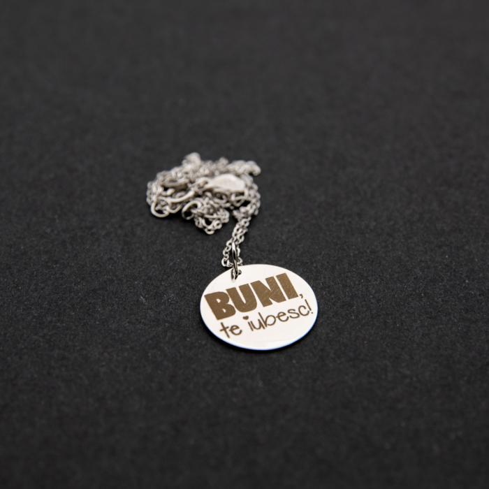 Colier BUNI, TE IUBESC - Argint 925 placat cu aur 5