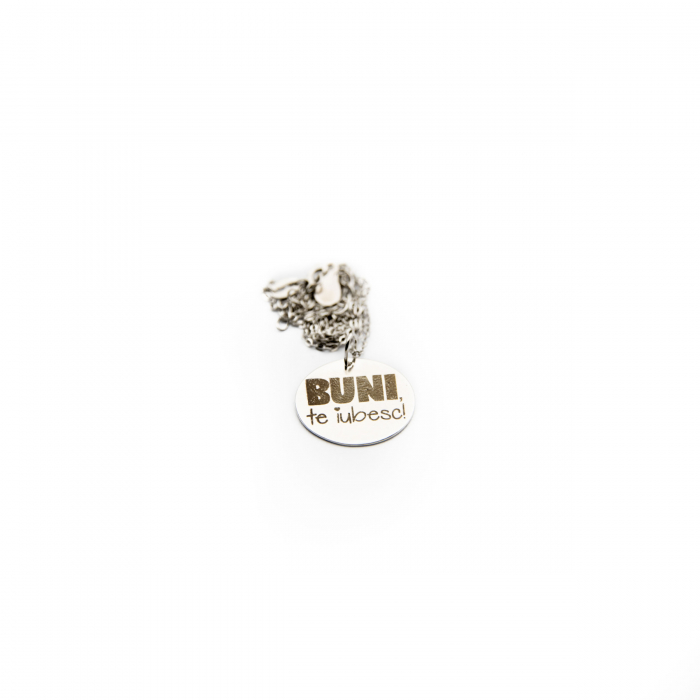 Colier BUNI, TE IUBESC - Argint 925 placat cu aur 7