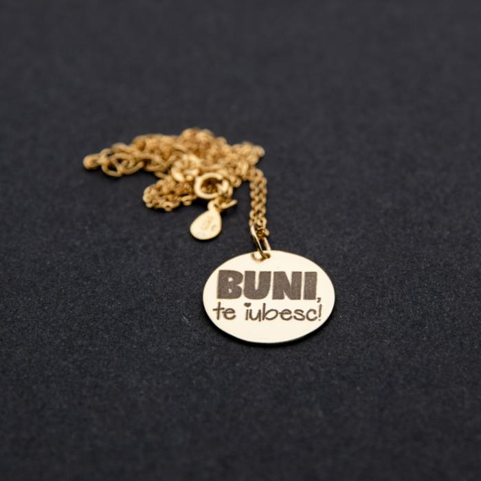 Colier BUNI, TE IUBESC - Argint 925 placat cu aur 6