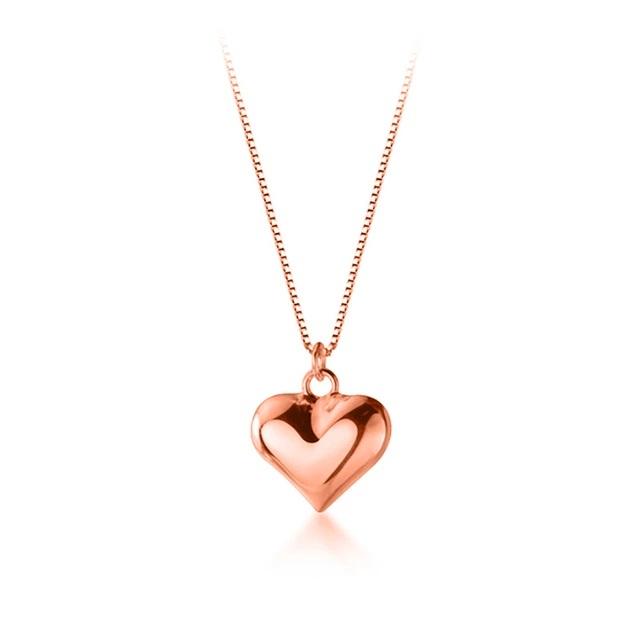 Colier MY HEART - Argint 925 placat cu Aur Roz 0