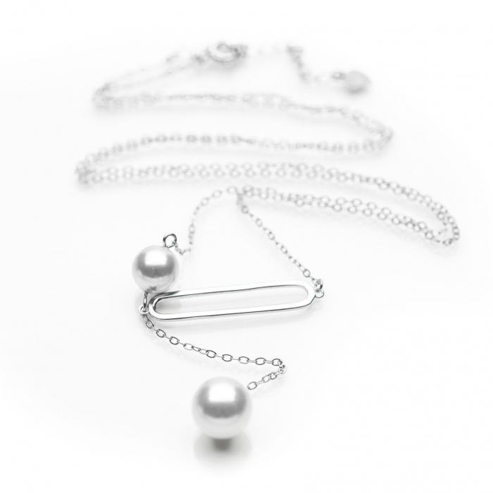 Colier 'Two Drops' Argint 925 2