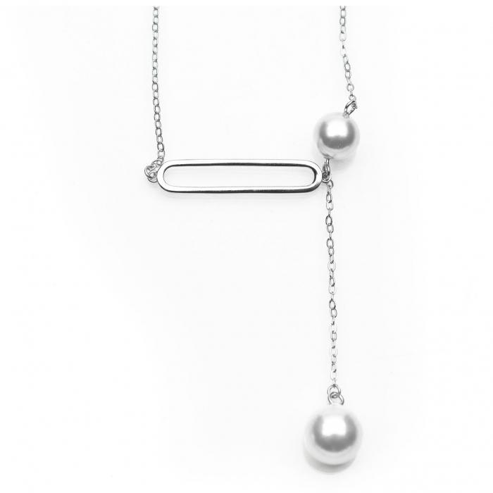 Colier 'Two Drops' Argint 925 1
