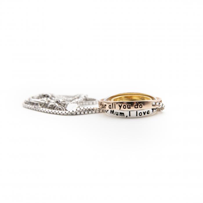 Colier PURE LOVE - Argint 925 placat cu Aur 2