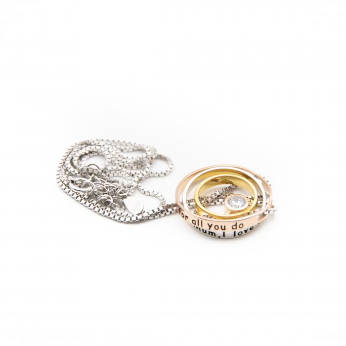 Colier PURE LOVE - Argint 925 placat cu Aur 5