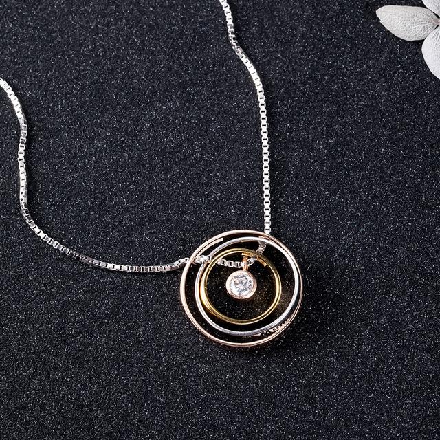 Colier PURE LOVE - Argint 925 placat cu Aur 9