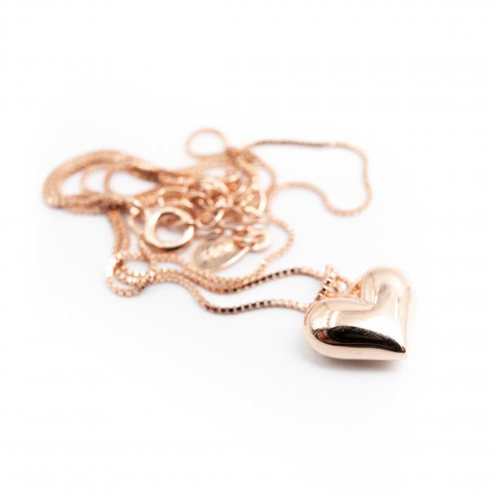 Colier MY HEART - Argint 925 placat cu Aur Roz 3