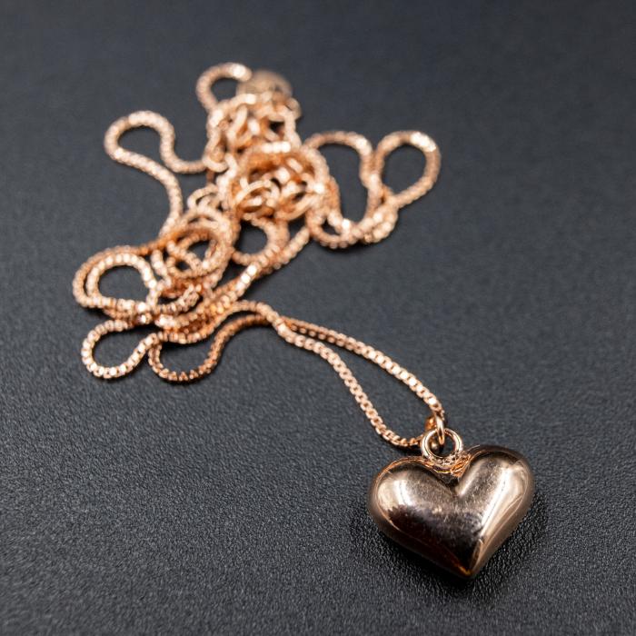 Colier MY HEART - Argint 925 placat cu Aur Roz 4