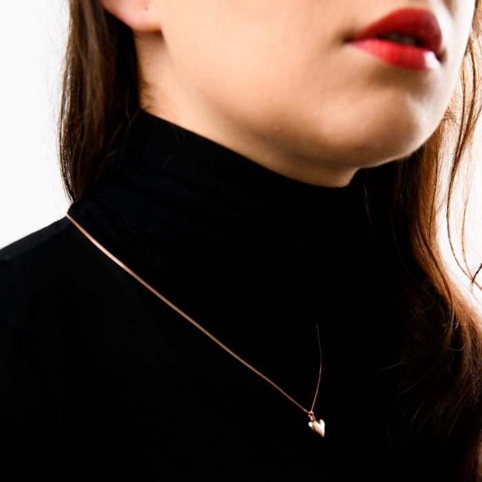 Colier MY HEART - Argint 925 placat cu Aur Roz 2