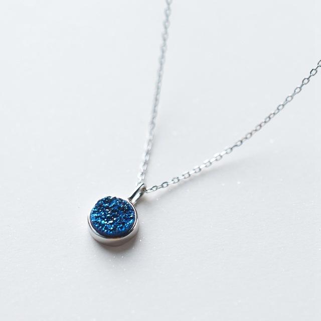 Colier 'Deep Blue' Argint 925 3