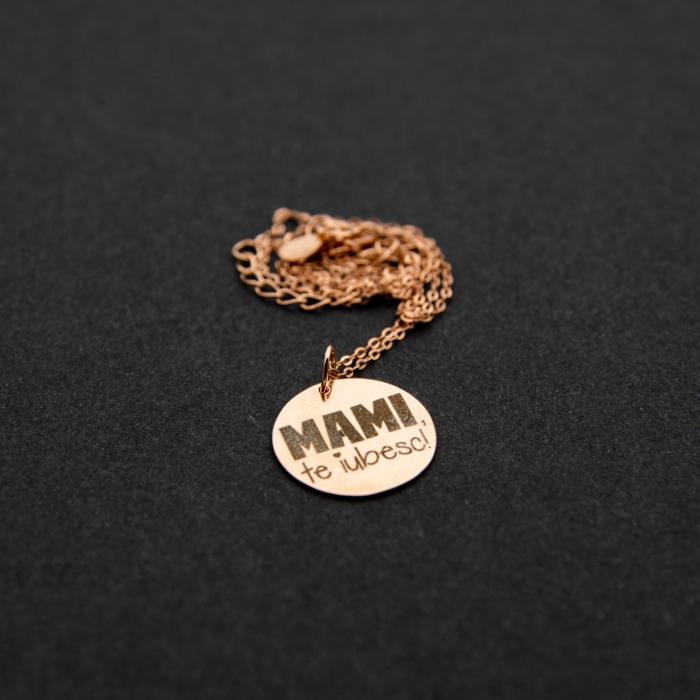 Colier MAMI, TE IUBESC - Argint 925 placat cu aur [4]