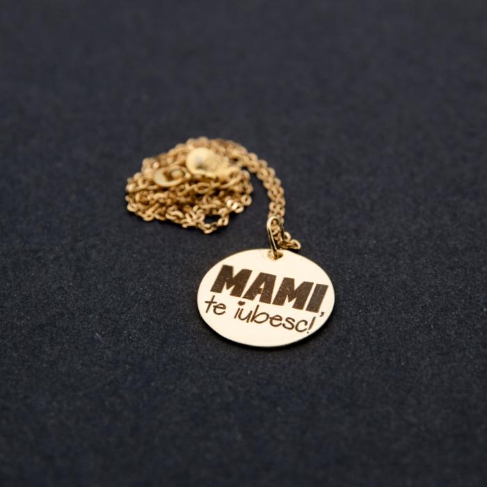 Colier MAMI, TE IUBESC - Argint 925 placat cu aur [2]