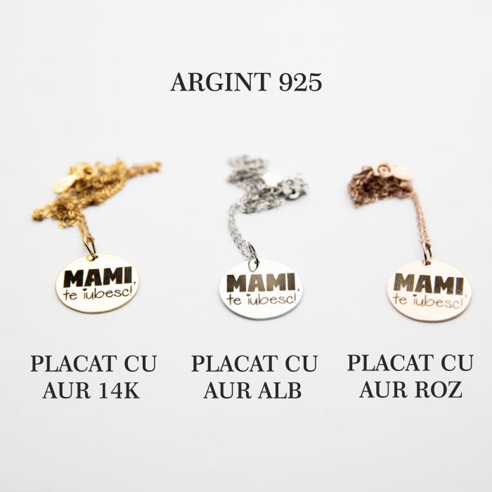 Colier MAMI, TE IUBESC - Argint 925 placat cu aur [1]