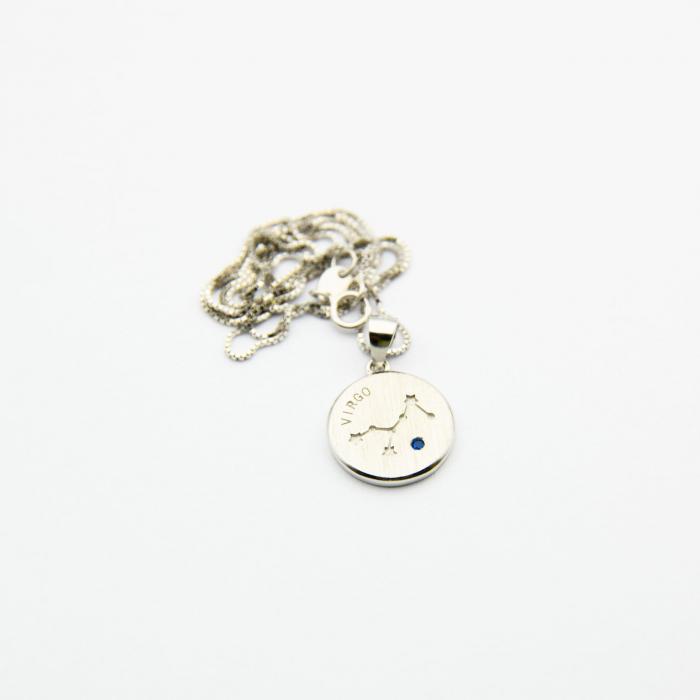 Colier Zodiac Fecioara / Virgo - Argint 925 3