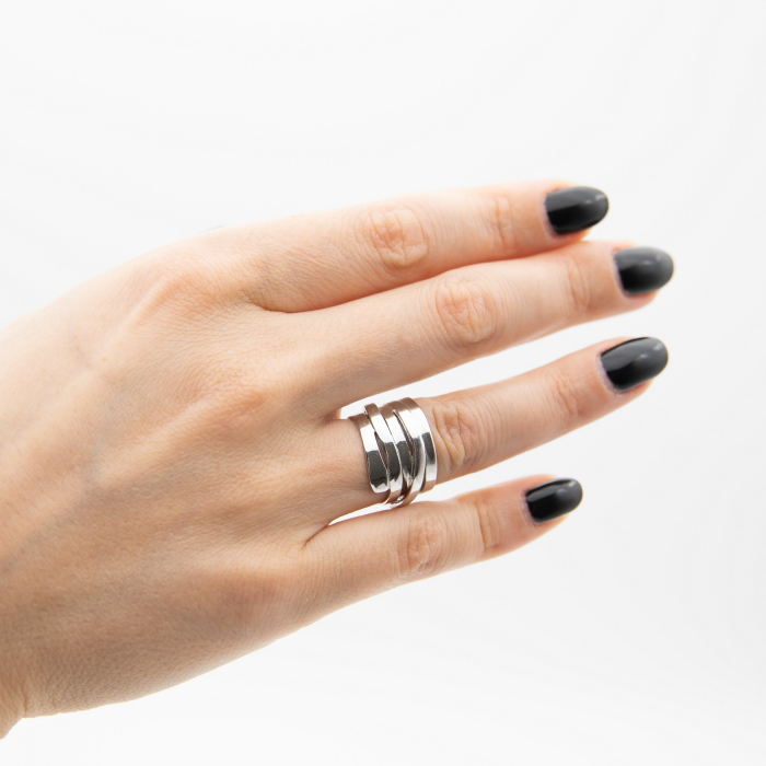 Inel TWISTED Argint 925 3