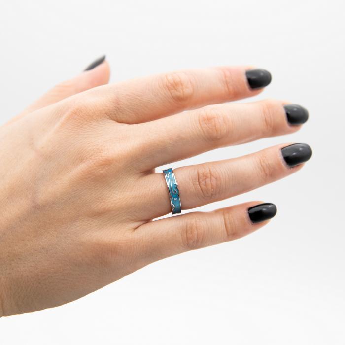Inel Argint 925  MERMAID ' Aquamarine ' [2]