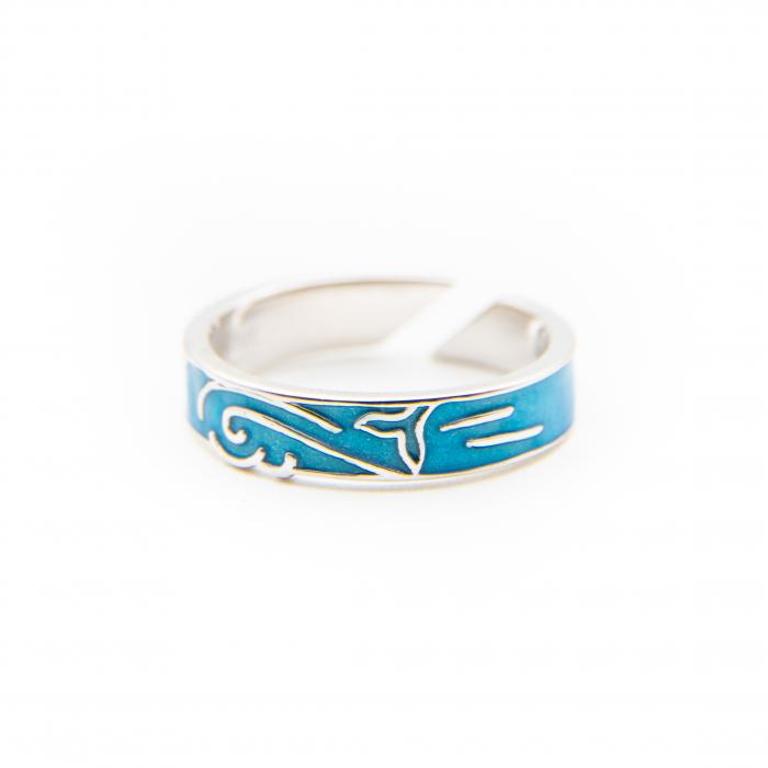 Inel Argint 925  MERMAID ' Aquamarine ' [1]