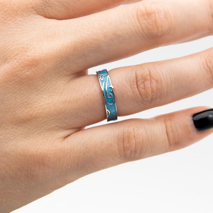 Inel Argint 925  MERMAID ' Aquamarine ' [0]