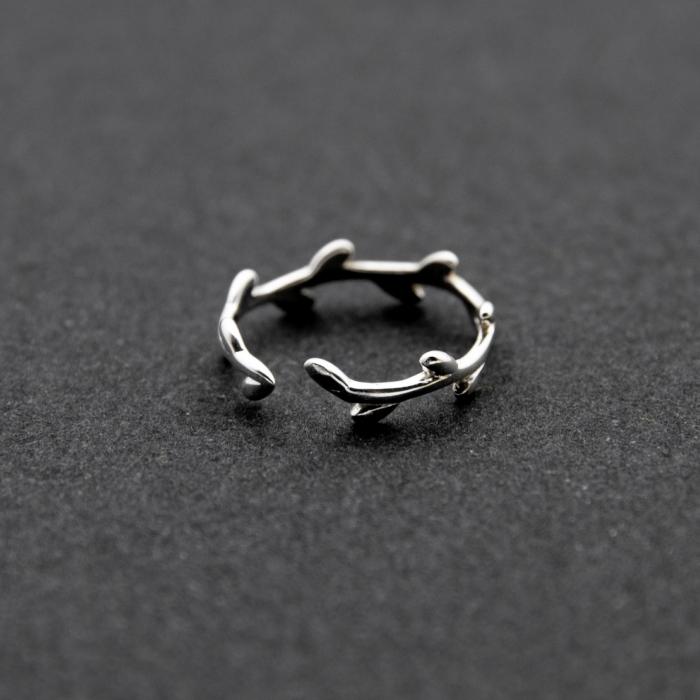 Inel LEAVES Argint 925 1