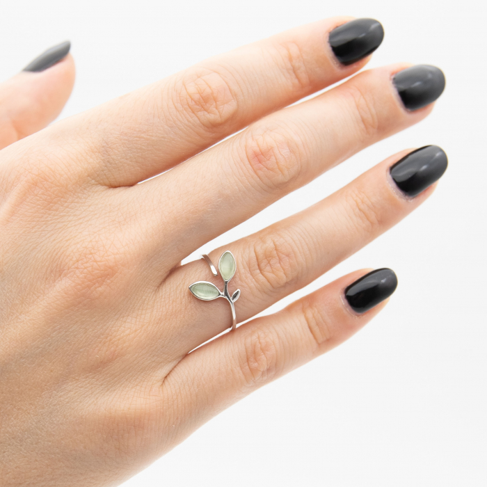 Inel Argint 925 'Opal Leaf' 0