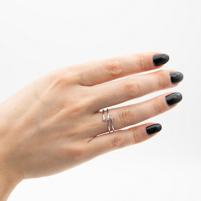 Inel Argint 925 'Sparkle Sisters' 5