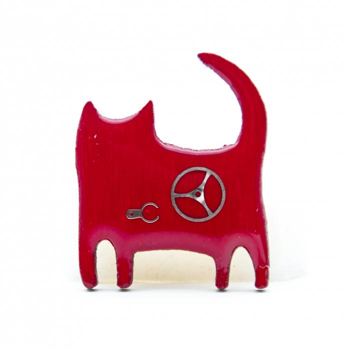 Brosa Lemn Pisica 'Zaza' 3