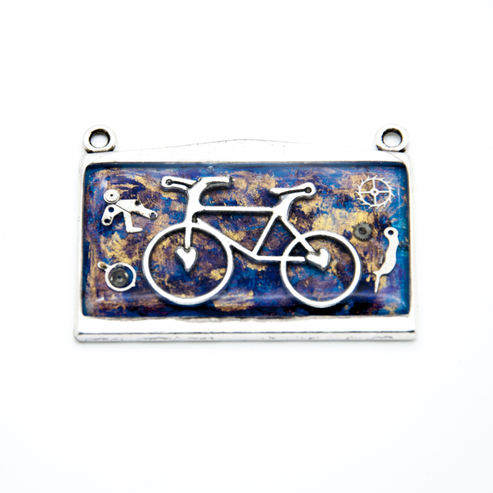 Pandantiv Bicicleta Albastru  2