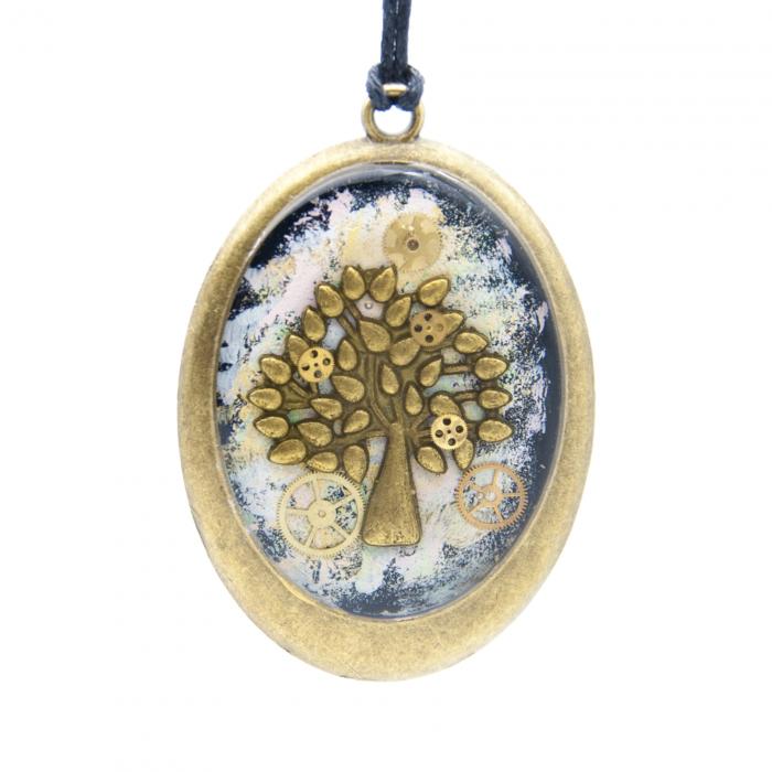 Pandantiv Multicolor cu Charm Copacul Vietii / Tree of Life