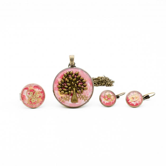 Pandantiv Copacul Vietii - Roz