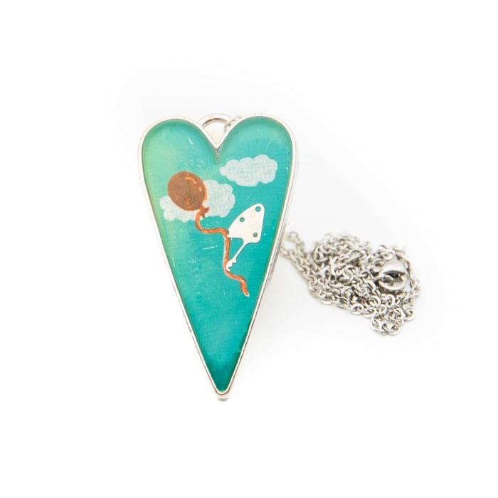 Pandantiv Inima Turquoise