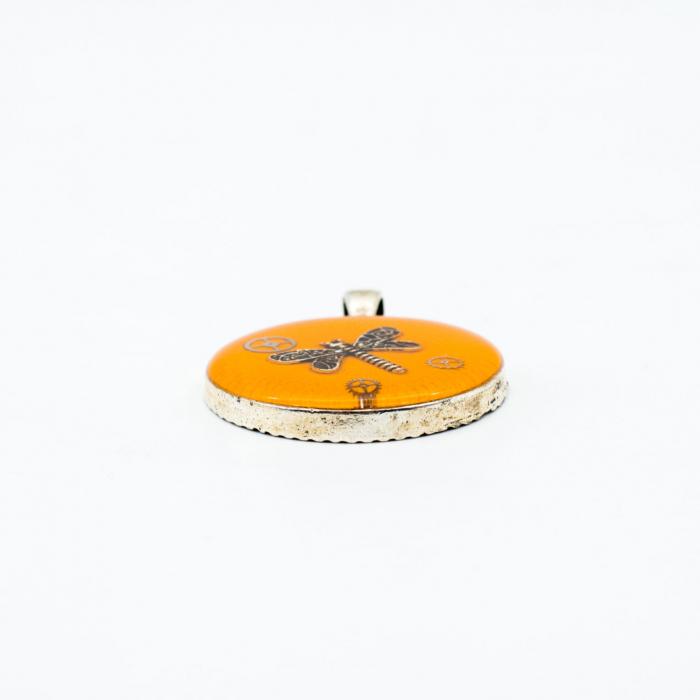Pandantiv Portocaliu - Libelula 1