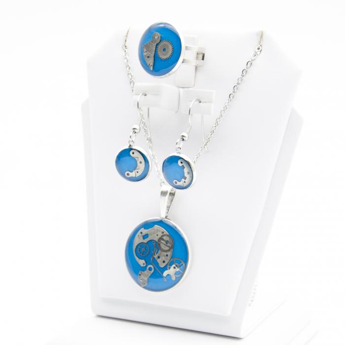 Set Bijuterii ' Blue Sapphire ' Albastru -EDITIE LIMITATA 2