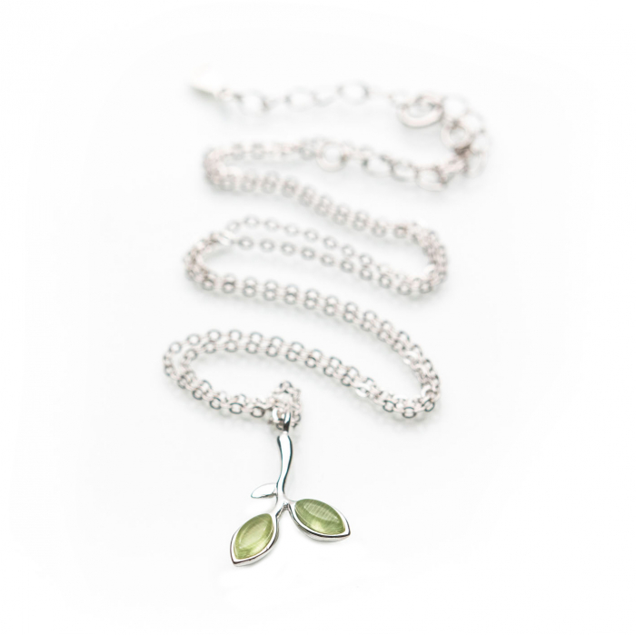 Colier Argint 925 'Opal Leaf' 2
