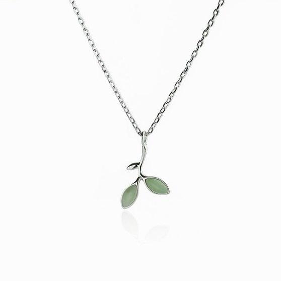 Colier Argint 925 'Opal Leaf' 1