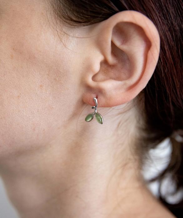 Cercei Argint 925 'Opal Leaf' 4