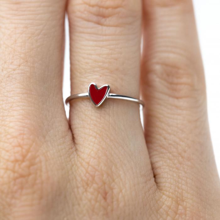 Inel RED HEART Argint 925 0