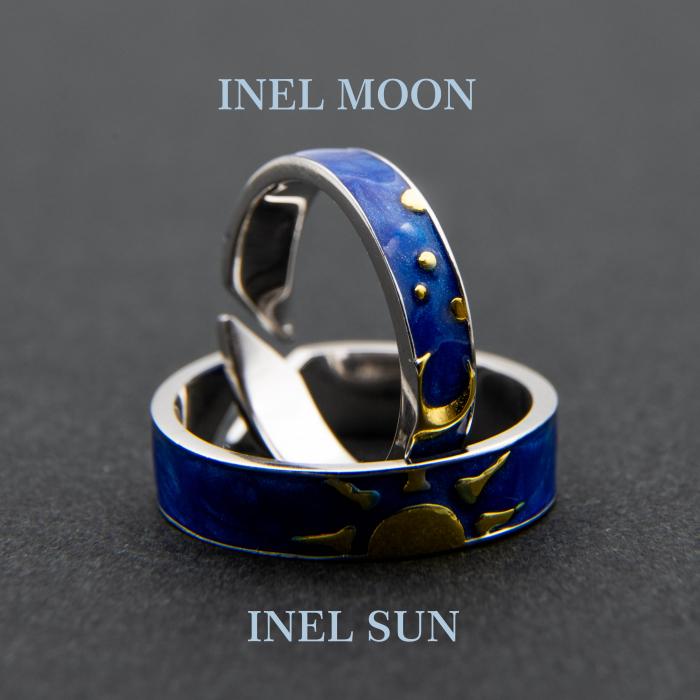 Set Inele Argint 925, Sun & Moon - Colectia Van Gogh ' Soarele & Luna ' 5