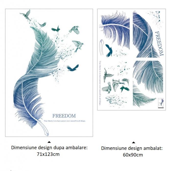 Sticker Feather - Colectia DecoArt Stickers [5]