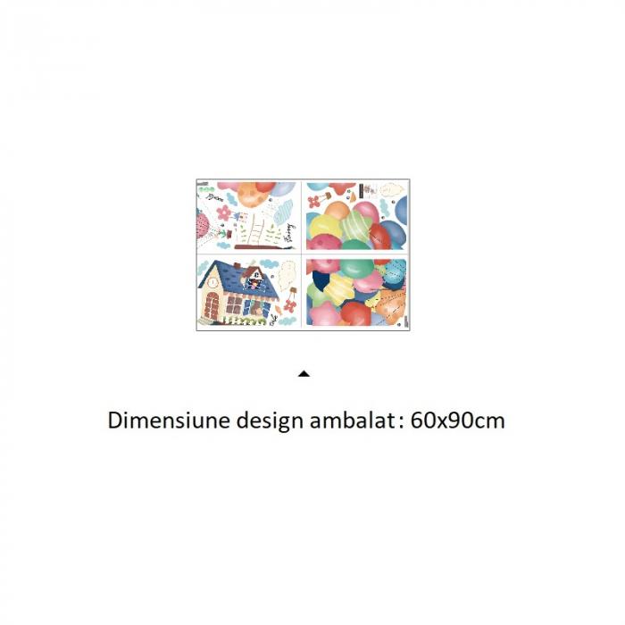 Sticker Casuta Zburatoare - Colectia DecoArt Stickers [5]