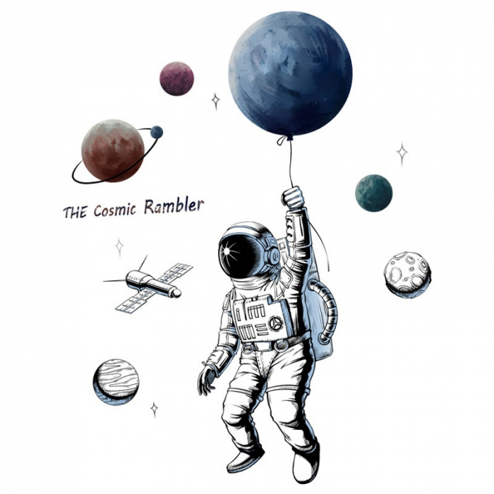 Sticker Explorator Spatial - Colectia DecoArt Stickers 0