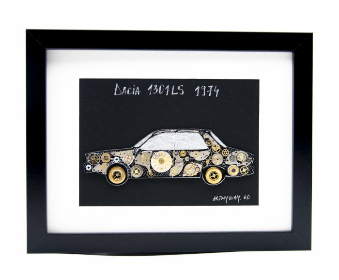 Tablou Dacia 1301LS 1974 - Colectia ART my Cars 0