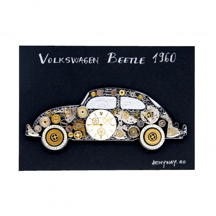 Tablou Volkswagen Beetle 1960  Colectia ART my Cars 2