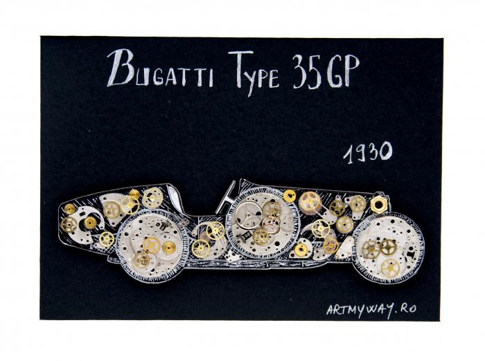Tablou Bugatti 35 GP 1930 - Colectia ART my Cars 2
